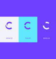set letter c minimal logo icon design template vector image