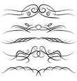 set of vintage decorative curls vector image