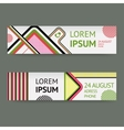 set template banners with Geometric vector image vector image
