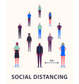 social distancing keeping vector image