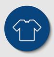 t-shirt sign white contour vector image