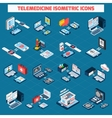 Telemedicine isometric icons set vector image vector image