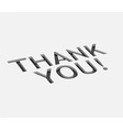thank you text design vector image vector image