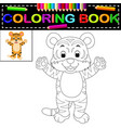 tiger coloring book vector image