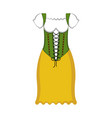 traditional oktoberfest dress icon vector image