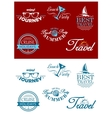 Travel headers and tags vector image vector image