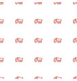 truck icon pattern seamless white background vector image vector image