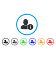 user info rounded icon vector image vector image