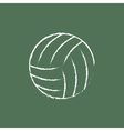 Volleyball ball icon drawn in chalk vector image vector image
