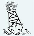 Warning buoy off the coast vector image vector image