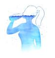 watercolor hydration concept vector image