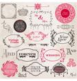 Wedding Vintage Frames and Design Elements vector image vector image