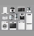 white kitchen goods realistic electronic vector image