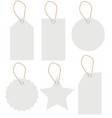 white label tag set isolated on white background vector image