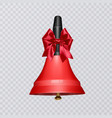 with realistic school bell red vector image vector image