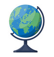 world map silhouette globe in dots vector image