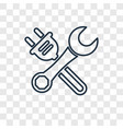 wrench concept linear icon isolated on vector image