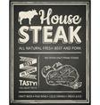 Steak house poster vector image