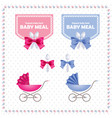 baby meal logo and identity vector image