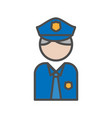 police and security people avatar icon on white vector image