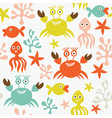 seamless sea background vector image