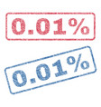 001 percent textile stamps vector image vector image