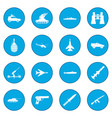 16 weapon icon blue vector image vector image