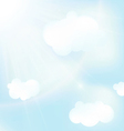 abstract blue sky backgrounds vector image vector image