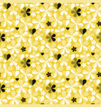 abstract geometric yellow seamless pattern vector image vector image