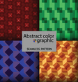 Abstract square color graphic vector image