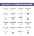 acne skin care vector image vector image