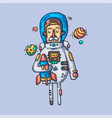 astronaut in outer space creative vector image