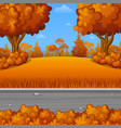 autumn landscape with the road vector image