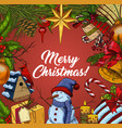 banner for christmas and 2018 new year vector image
