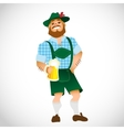 bavarian man with a big glass beer vector image