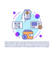 bitcoin wallet article page template virtual vector image