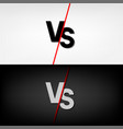 black and white versus vs letters vector image vector image