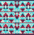 blue color triangle pattern with grunge effect vector image vector image