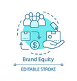 brand equity concept icon