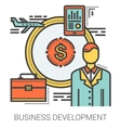 Business development line infographic vector image vector image