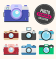 Camera flat set vector image