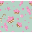 Candy seamless pattern background vector image