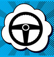 car driver sign black icon in bubble on vector image