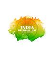 creative indian republic day watercolor flag vector image vector image