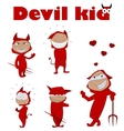 Cute baby boy in halloween outfit vector image
