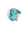 cute blue rabbit vector image vector image