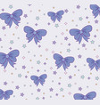 cute bow ties pattern design vector image vector image