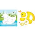 duck puzzle vector image