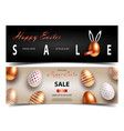 easter sale white black and rose gold posters or vector image vector image