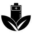 eco leaf battery icon simple style vector image